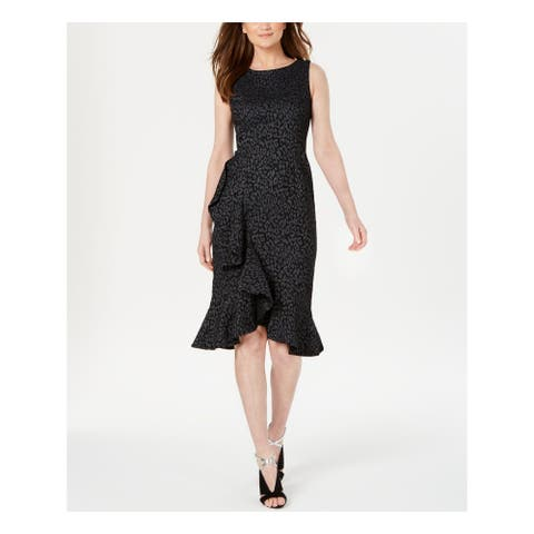 CALVIN KLEIN Gray Sleeveless Knee Length Sheath Dress Size 2