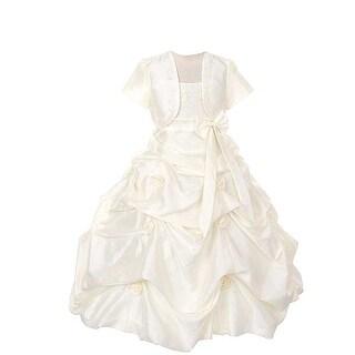 Rain Kids Ivory Flower Pickup Pageant Flower Girl Dress Girls 2T