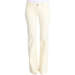 Costume National Costume National White Cotton Stretch Flare Jeans - w26