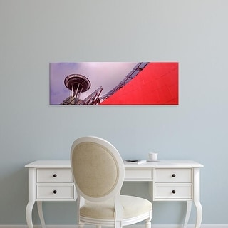 Easy Art Prints Panoramic Images's 'View of a tower, Space Needle, Seattle, King County, Washington State' Canvas Art