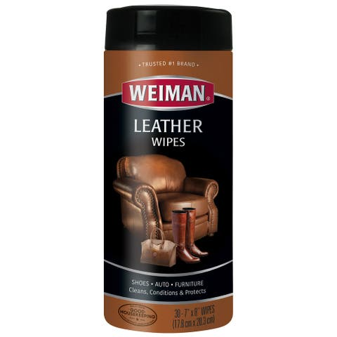 Weiman Leather Wipes-30 Wipes/Pkg