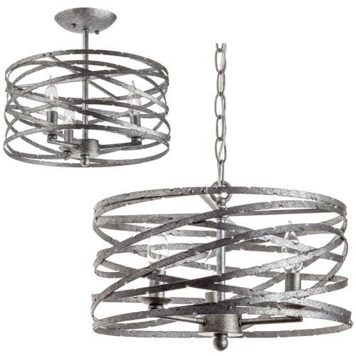 "Miseno MLIT145382 Annata 3-Light Pendant / Ceiling Fixture (Convertible) with 72"" of Adjustable Chain"