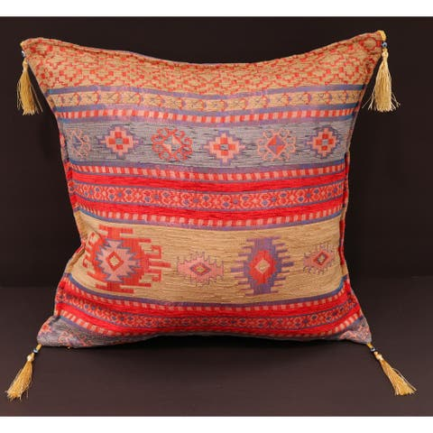 Anatolian Verbena Chenille Turkish Decorative Pillow