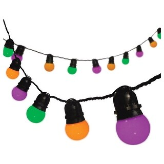 Sylvania V34628-71 Halloween Decoration LED Cafe Lights, 12'
