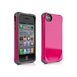 AGF Ballistic Aspira Series Case for Apple iPhone 4 / 4S (Raspberry Pink/Charcoa