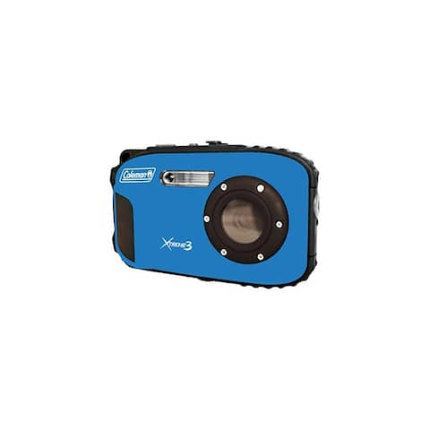 Coleman Cable ELBC9WPBLB Coleman C9WP-BL Xtreme3 20 MP Waterproof Digital Camera with Full 1080p HD Video - Multicolor