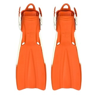 Scuba Choice Palantic Open Heel Rubber Dive Fins with Bag, Orange