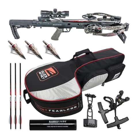 Killer Instinct Furious Pro 9.5 Crossbow Kit with Case and Broadheads Bundle
