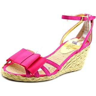 Lauren Ralph Lauren Claudie Open Toe Suede Wedge Sandal