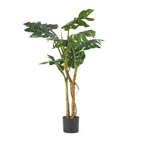 Stilwell 4' x 2.5' Artificial Monstera Tree by Christopher Knight Home