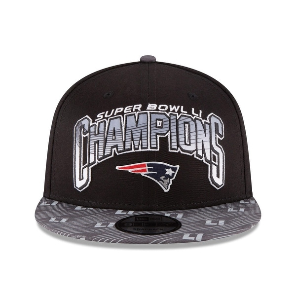 New England Patriots 2017 LI Super Bowl Champions Black Snapback Hat New Era Cap