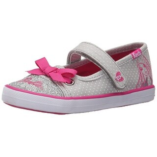 Keds Barbie Mary Jane (Toddler/Little Kid), Grey/Pink, Size 4 M US Toddler