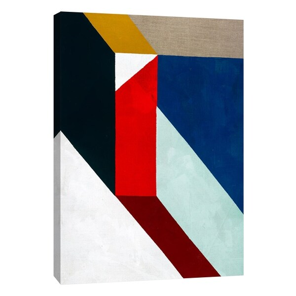 """PTM Images 9-105123 PTM Canvas Collection 10"""" x 8"""" - """"Primary Shapes 1"""" Giclee Abstract Art Print on Canvas"""