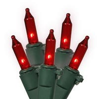 GE 64429 String A Long Mini Light Set, Red
