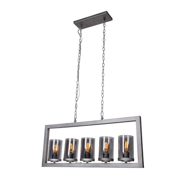 contemporary glass lighting. Contemporary Glass 5-Light Island Chandelier Contemporary Glass Lighting M