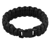 Unique Bargains Unique Bargains Plastic Whistle Buckle Black Rescue Survival Bracelet 220Lbs