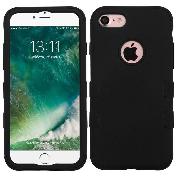 Insten Tuff Hard PC/ Silicone Hybrid Dual Layer Rubberized Matte Case Cover For Apple iPhone 7