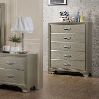 Link to Contemporary 5 Drawer chest-Champagne finish Similar Items in Dressers & Chests