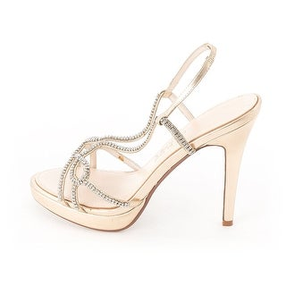 E Live From the Red Carpet Daphne Women's Heels Gold Metallic Size 8.0