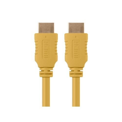 Monoprice 10 ft Select Series HDMI Cable - Yellow Network Cable