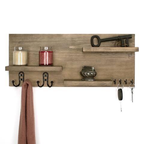 """Furniture Pipeline Crosby Entryway 22"""" Shelf Organizer"""