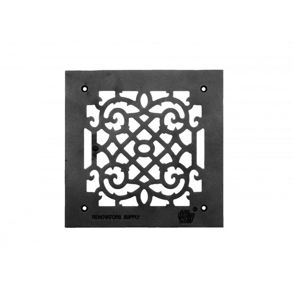 Heat Air Grille Cast Victorian Overall 10 x 10