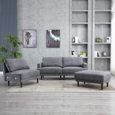 Sectional Couch Sofa with Ottoman Convertible Modular Couch Set