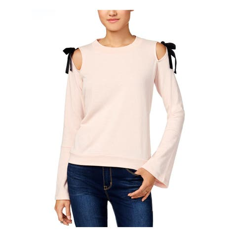 Freshman Womens Sweatshirt, Crew Cold Shoulder Bell Sleeve - M