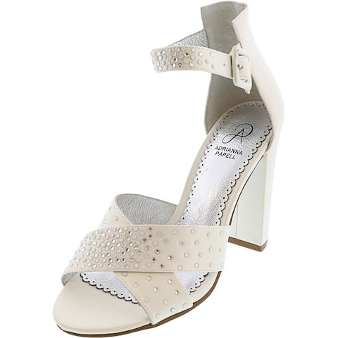 Adrianna Papell Women's Maddy Ankle-High Satin Heel