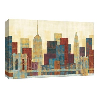 """PTM Images 9-153987  PTM Canvas Collection 8"""" x 10"""" - """"Majestic City"""" Giclee New York Art Print on Canvas"""