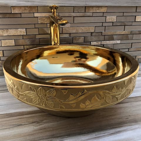 Dorado Golden Imperial Vessel Sink