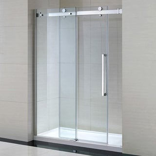 "Miseno MSDC6082 81-1/2"" High x 60"" Wide Frameless Shower Door for Alcove Installations - Acrylic Shower Base Included"