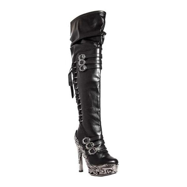 Hades Women's Lokie Thigh High Boot Black