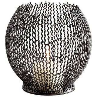 Cyan Design 09706  Ecliptic Iron Decorative Candle Holder - Graphite