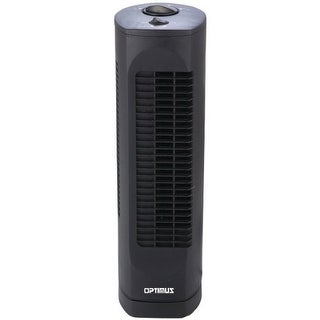 Optimus OPSF7300B OPTIMUS F-7300 Desktop Ultra Slim Oscillating Tower Fan, 17-Inch