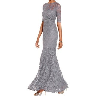 Xscape Womens Evening Dress Glitter Lace