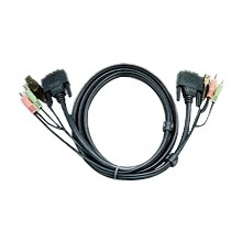 Aten 2L7D02UI Aten KVM Cable - for KVM Switch - 6 ft - 1 x DVI-I (Single-Link) Video, 1 x USB, 1 x Microphone, 1 x Audio