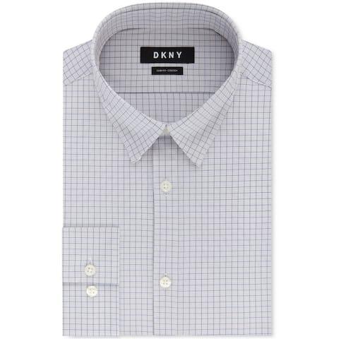 Dkny Mens Check Button Up Dress Shirt