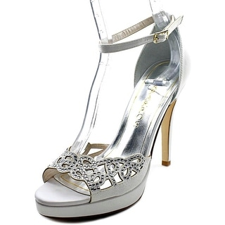 Caparros Shiney Women Open Toe Canvas Platform Heel