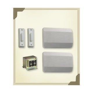 Quorum International 102-2 Two Story / Front and Side Door Chime Kit with White Plastic Covers
