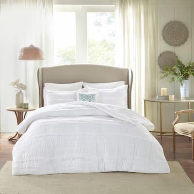 Copper Grove Burwell White Comforter Set