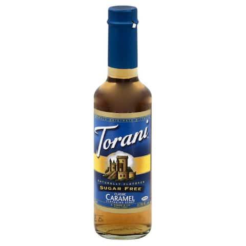 Torani Sugar Free Classic Caramel Flavoring Syrup, 12.7 Fo (Pack of 4)