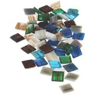 Metallic - Vitreous Glass Mosaic Tiles .5Lb