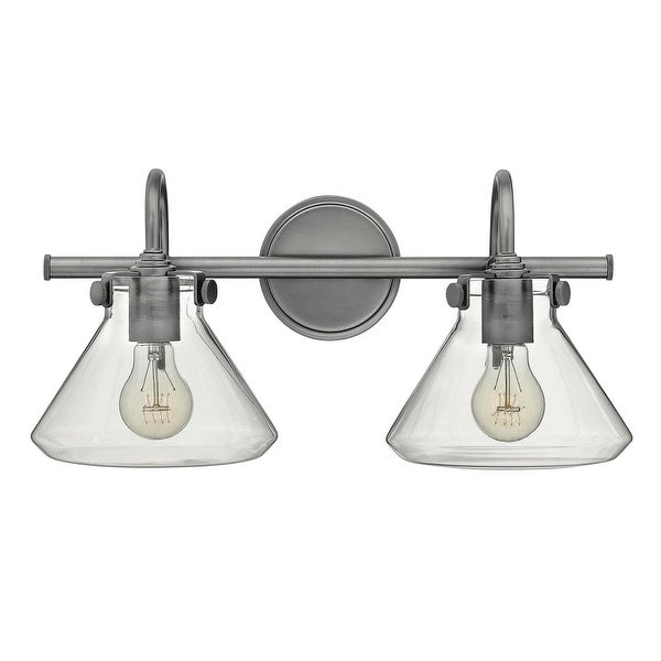 "Hinkley Lighting 50026 2-Light 19.25"" Width Bathroom Vanity Light with Clear Cone Shade from the Congress Collection - n/a"