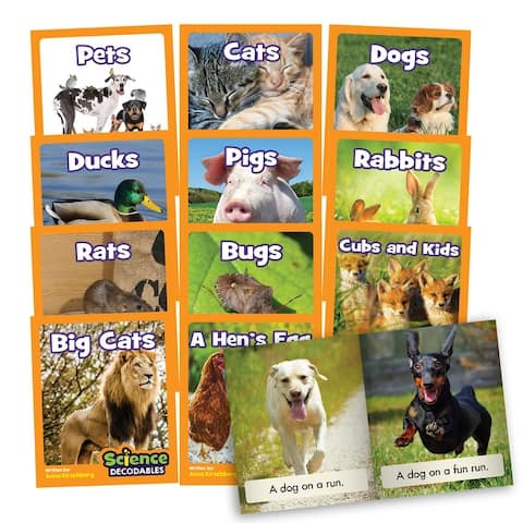 Science Decodables Phase 2 Non-Fiction Learning Set - White