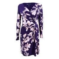 American Living Women's Slim-Fit Floral-Print Dress - Purple Multi