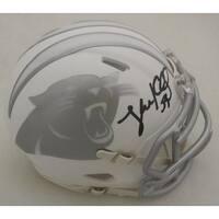 Luke Kuechly Autographed Carolina Panthers Ice Mini Helmet JSA