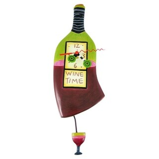 Allen Designs `Wine Time` Pendulum Wall Clock
