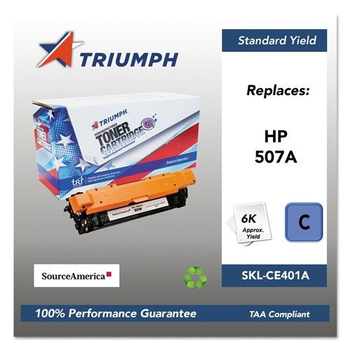 Triumph Remanufactured 507A Toner Cartridge - Cyan Toner Cartridge