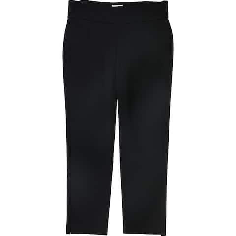 Charter Club Womens Cambridge Slim Casual Trouser Pants, Black, 24W